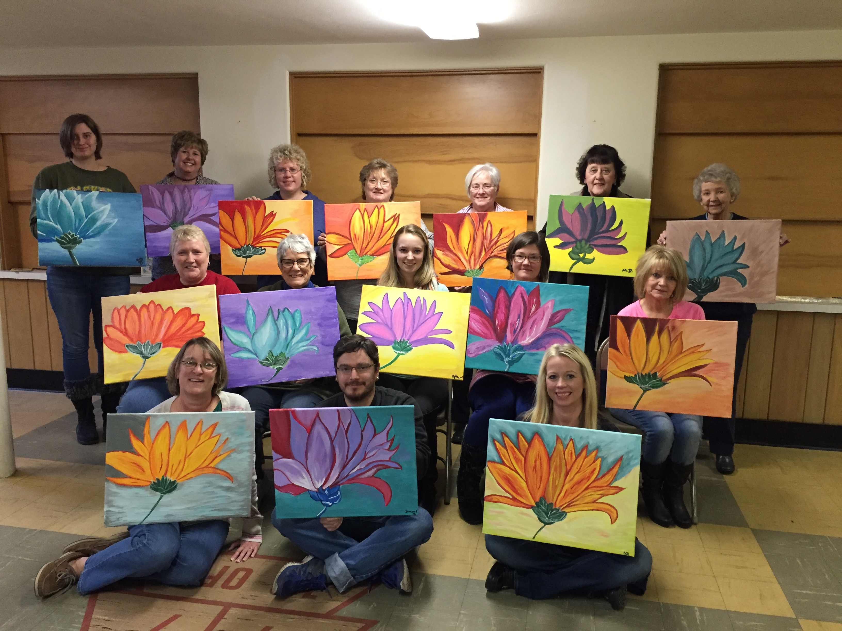 United Church of Beloit spent time together painting flowers of all kinds! 3/5/16
