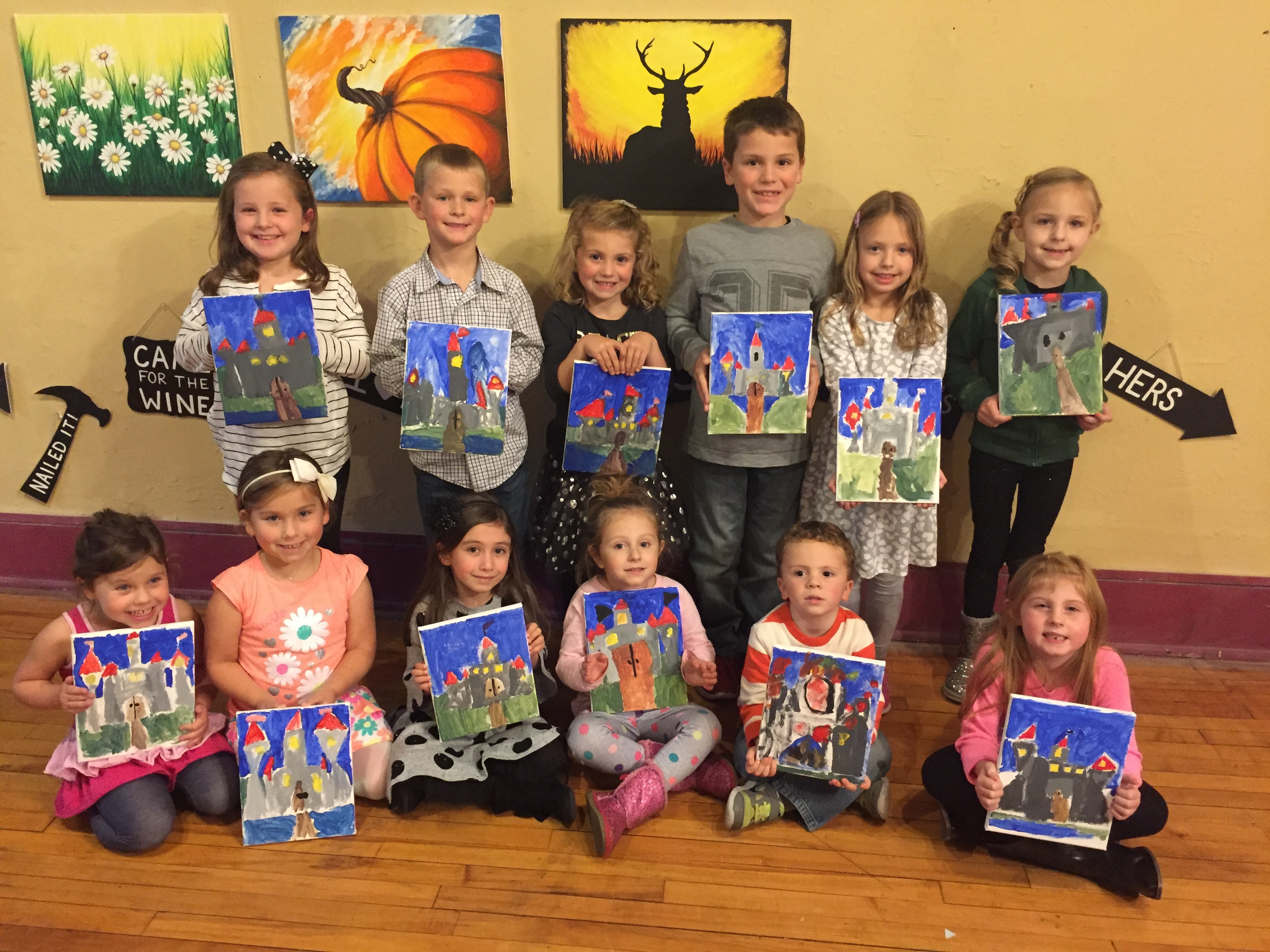 Graces party guests painted Castles! 11/8/15