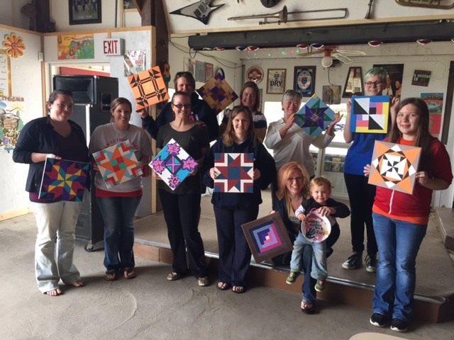 Barn Quilt Paintings at Sweetminihaha Campground 5/9/2015 Visit www.sweetminihaha.com for more information about their wonderful camping facilities!