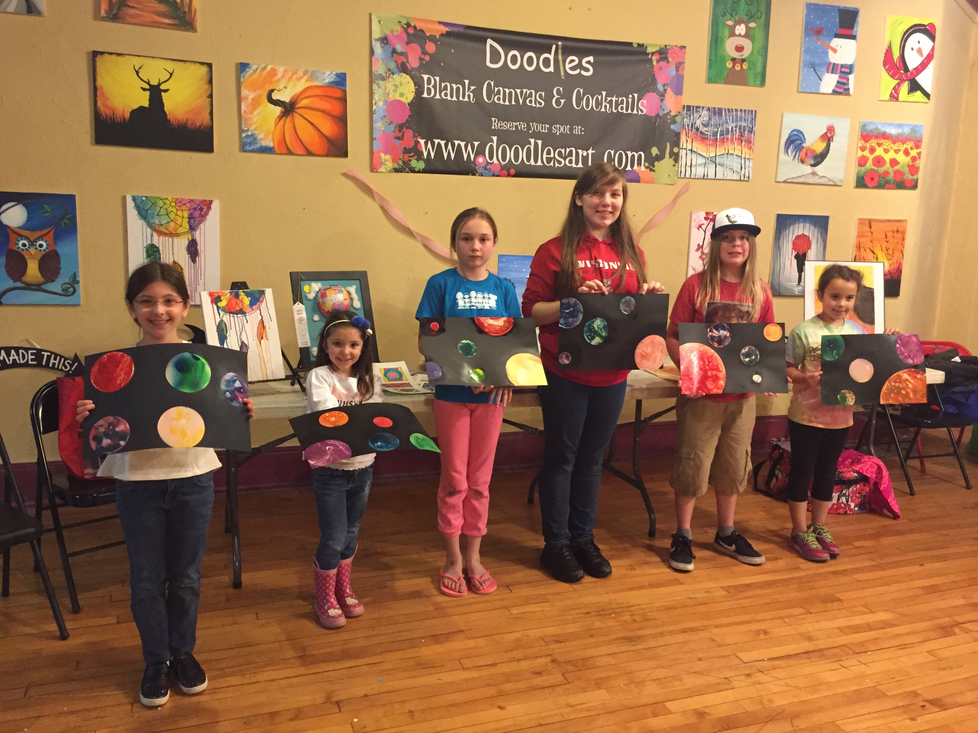 Private Lesson Party did Space Paint! 5/13/16