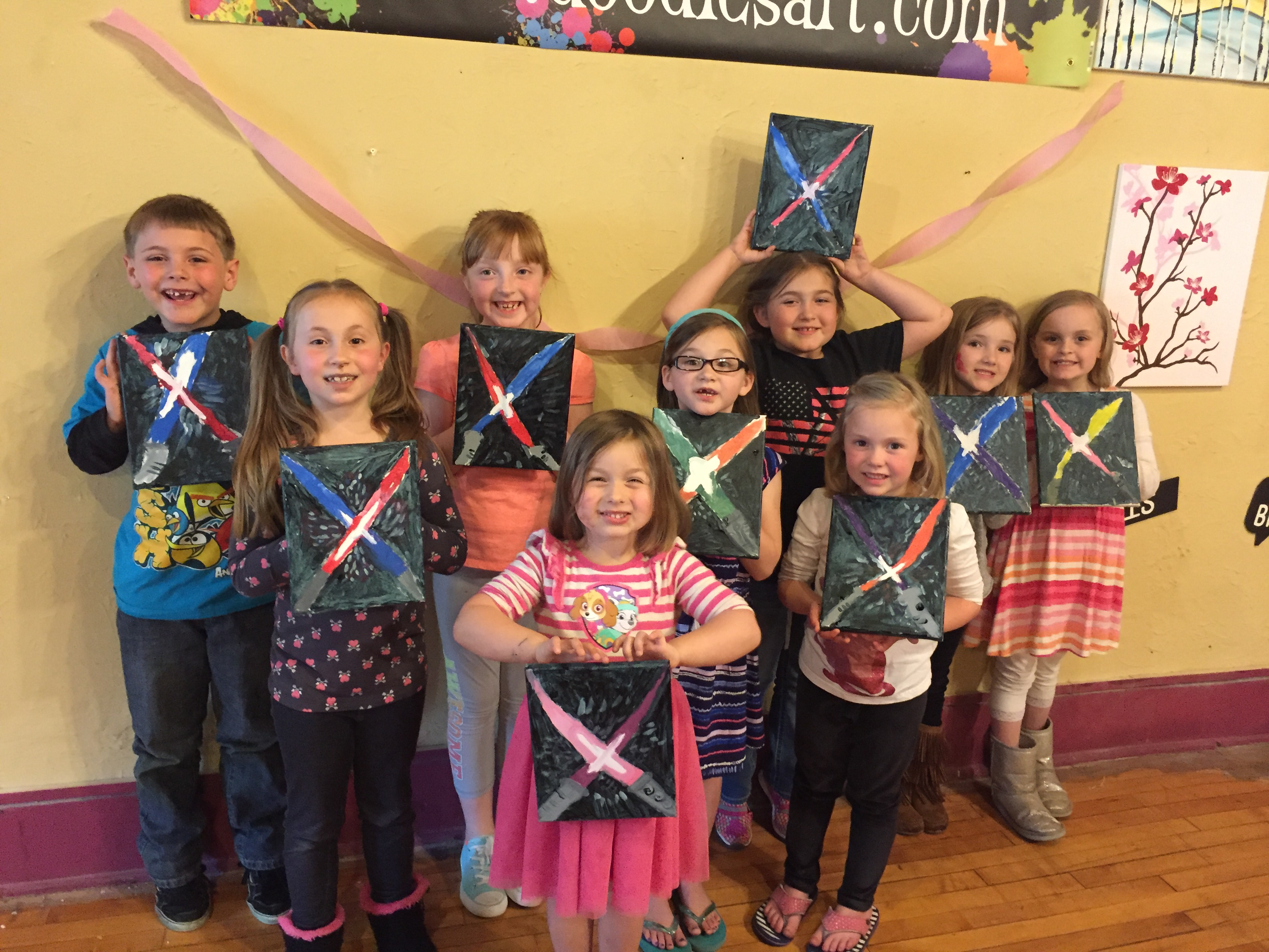 Star Wars themed Birthday for Natalie who chose Light Sabers! 5/14/16