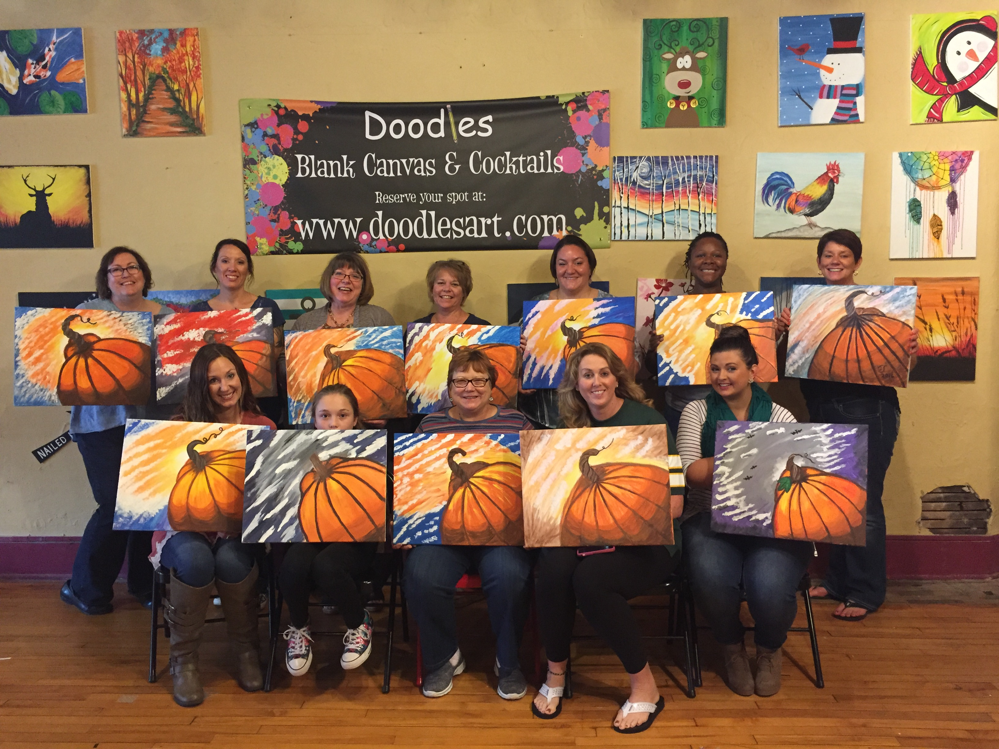 A company get together for the hospital staff, organized by Mardell, painted pumpkins for the holidays! 10/16/16
